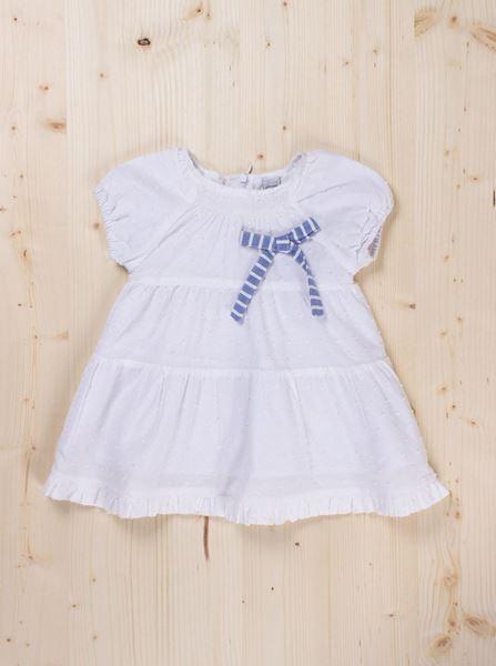Image de Vestido plumeti blanco bb
