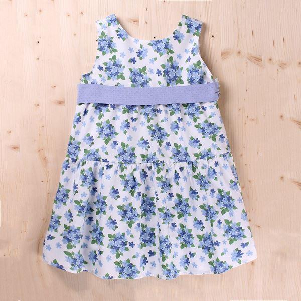 Image de Vestido Junior dobby flores y lazo