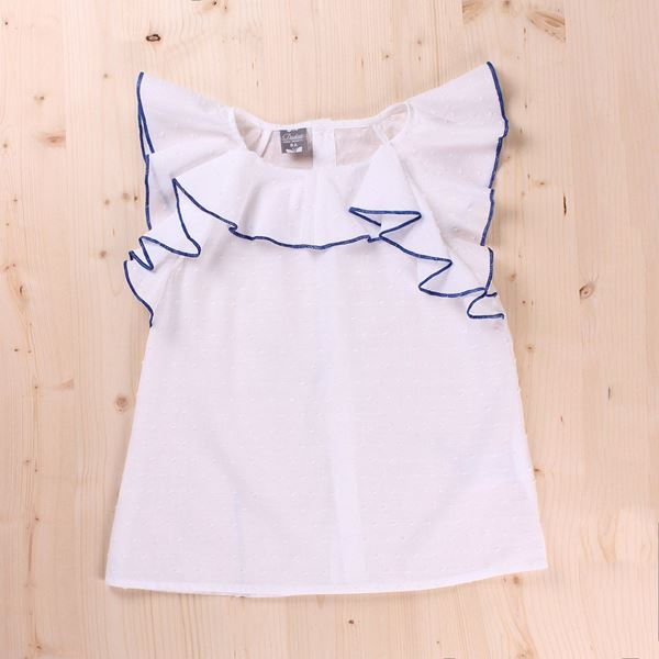 Picture of Blusa Junior cuello volante contraste