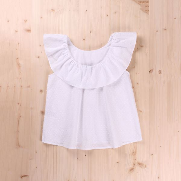 Picture of Blusa Junior plumiti con volante