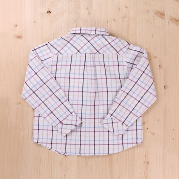 Picture of CAMISA JR. CUADROS LILA