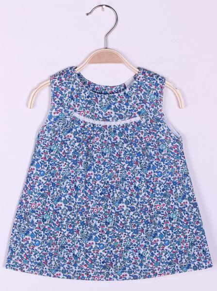 Image de Vestido de popelin estampado chic