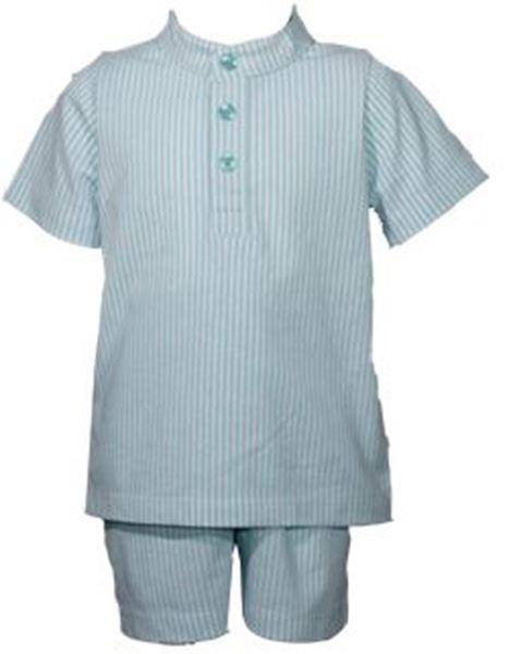 Image de Pijama m/c de rayas azules