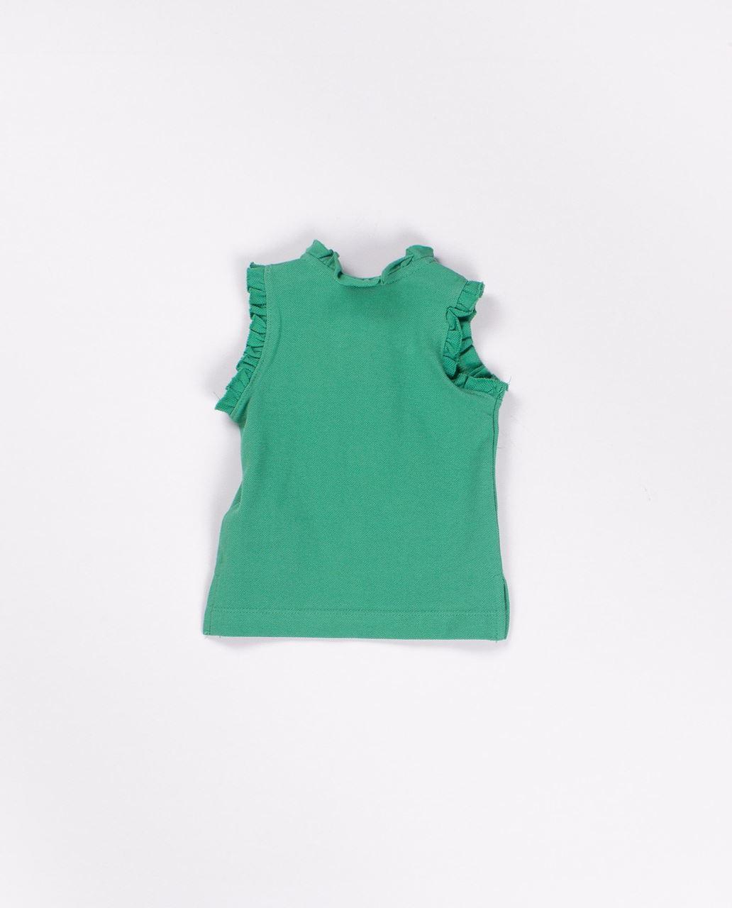 ce6518eab Polo pique de algodon sin mangas niña verde sandia. Dadati Profesionales