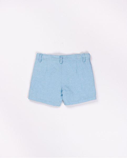 Picture of Pantalon corto de lino turquesa