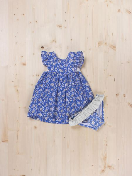 Picture of LOOK FLORES AZULES BAÑO BB