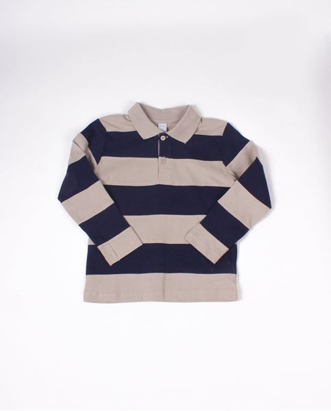 Picture of Polo rayas beige
