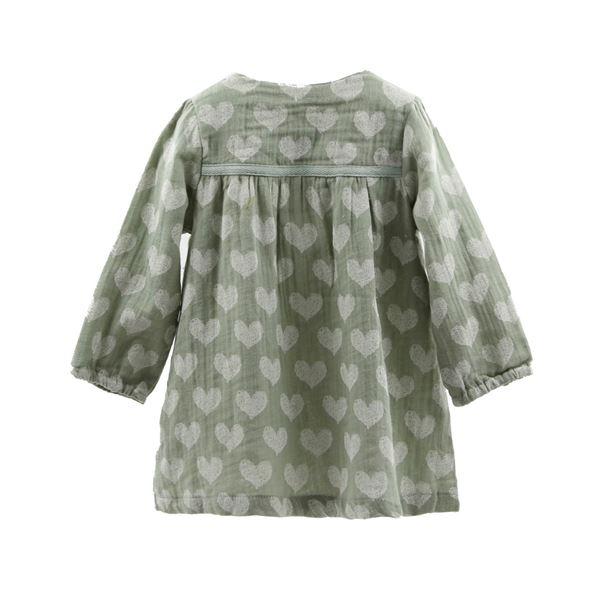 Image de Vestido Corazones verde