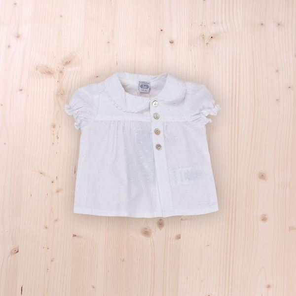 Picture of white blouse with buttons