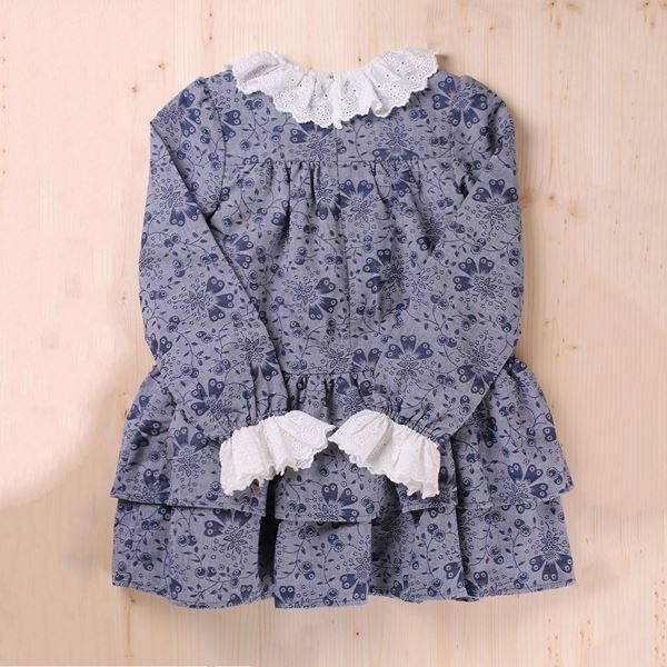 Picture of VESTIDO JUNIOR INDIGO VOLANTES