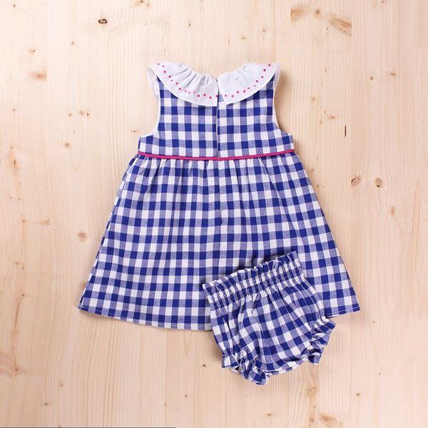 Imagen de Vestido bebé vichy, con braguita