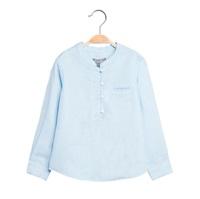 Image de Camisa de niño en azul claro y manga larga