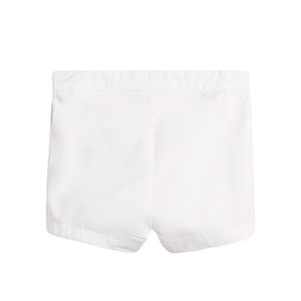 Picture of Short de bebé niño en blanco con botones
