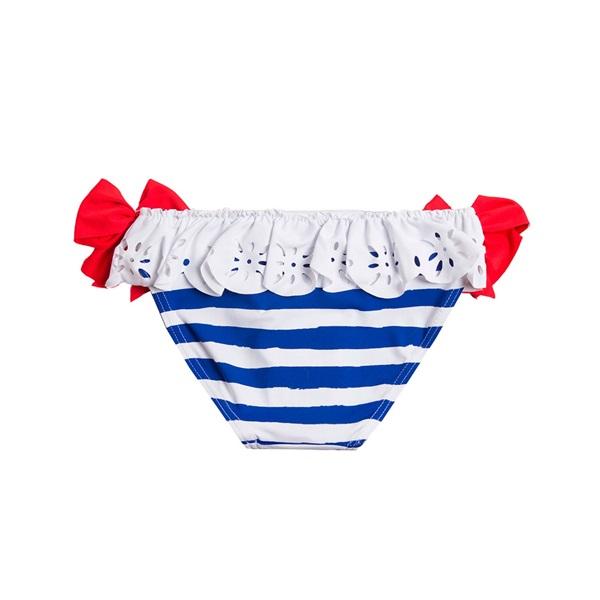 Image de Culetín de niña con rayas marineras y lazos