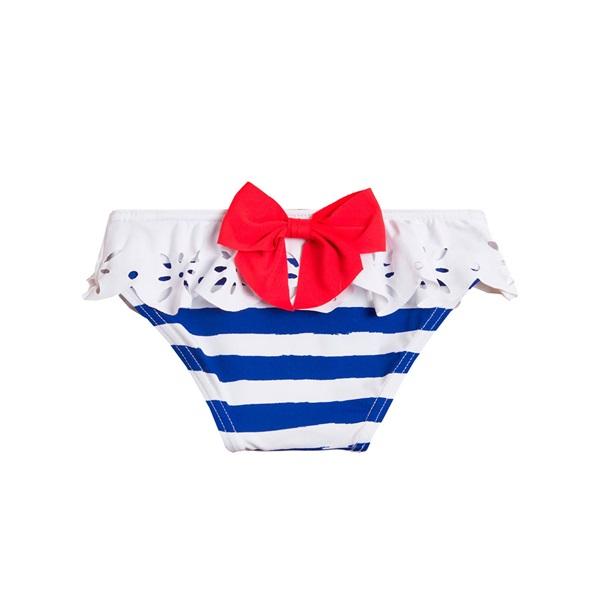 Picture of Culetín de bebé niña de rayas marineras con lazo