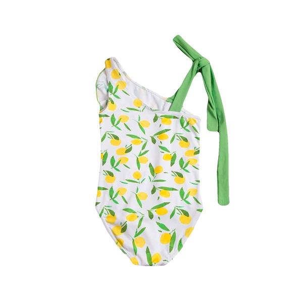 Image de Bañador de niña con estampado de limones y volante