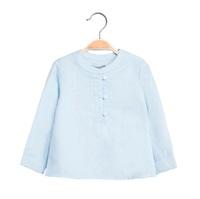 Imagen de Camisa de bebé niño en azul claro y manga larga