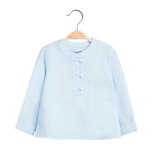 Picture of Camisa de bebé niño en azul claro y manga larga