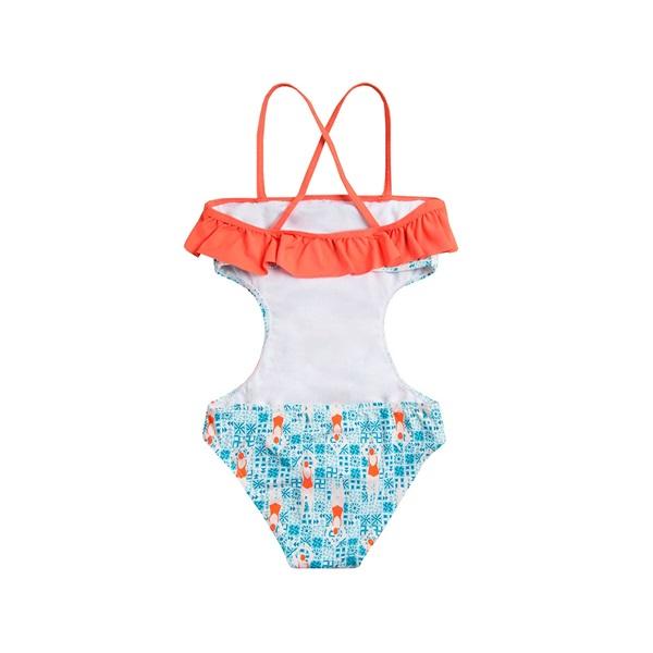 Picture of Trikini de niña con estampado de nadadoras y volante