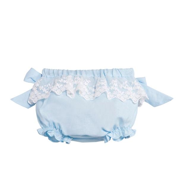 Imagen de Ranita de bebé niña en azul claro con encaje
