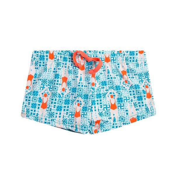 Image de Bañador de bebé niño tipo boxer con estampado de nadadoras