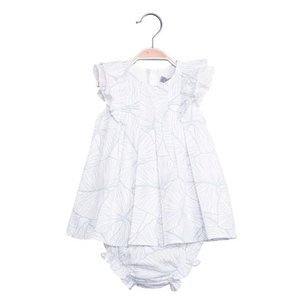 Picture of Vestido de bebé niña estampado con braguita