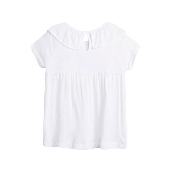 Picture of Camiseta de niña en blanco con volante