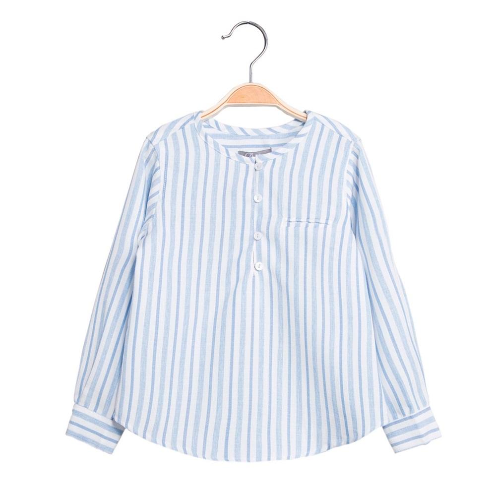 Imagen de Camisa de niño de rayas y manga larga