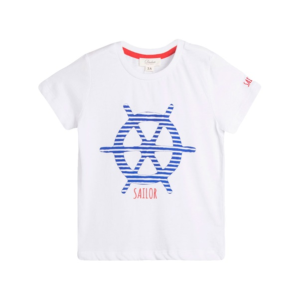 Picture of Camiseta de niño en blanco con print marinero