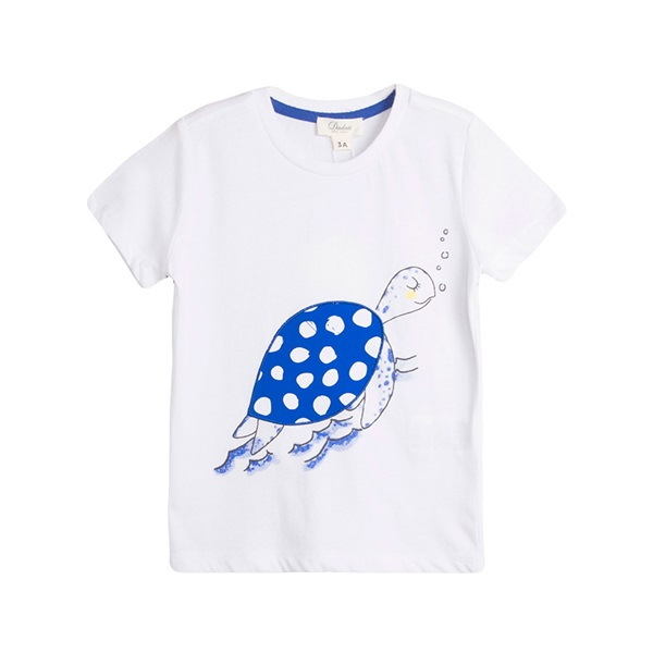 Picture of Camiseta de niño en blanco con print tortuga