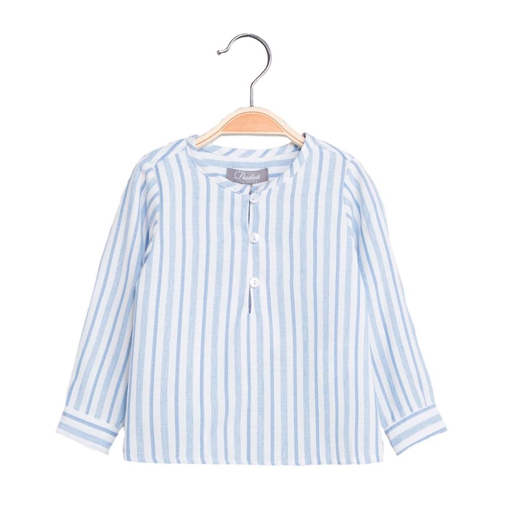 Image de Camisa de bebé niño de rayas y manga larga