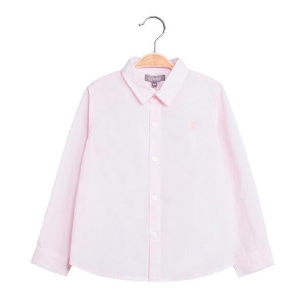 Imagen de Camisa de niño en rosa y manga larga