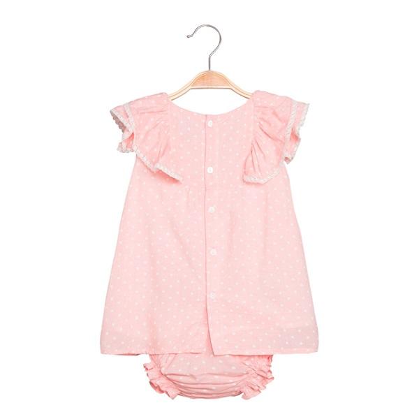 Picture of Vestido de bebé niña en rosa claro con braguita