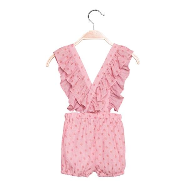 Image de Short de bebé niña en rosa con tirantes