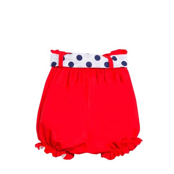 Image de Short de niña en rojo tipo bombacho