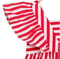 Picture of Vestido de niña de rayas rojas con volantes