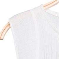 Image de Blusa de niña en blanco con borlas