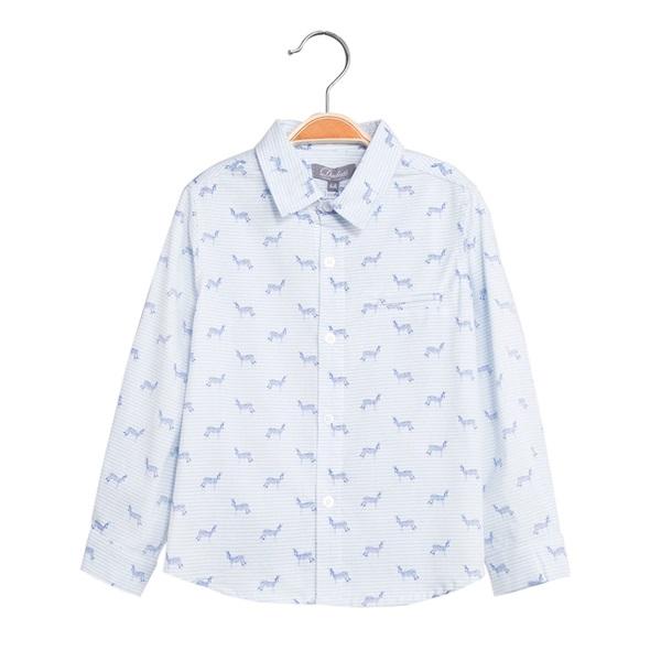 Picture of Camisa de niño con estampado de cebras y manga larga
