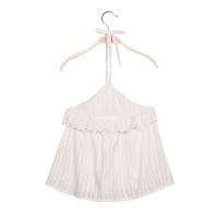 Image de Blusa de niña con cuello halter y volantes