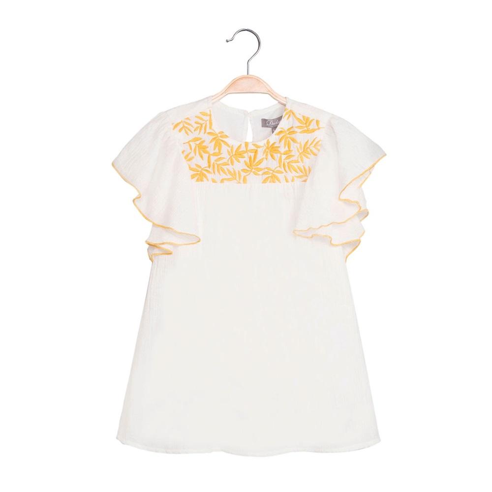 Picture of Vestido de niña en blanco con bordado