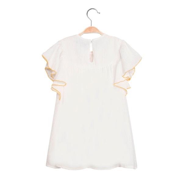 Imagen de Vestido de niña en blanco con bordado