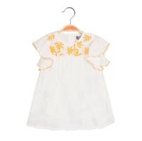 Picture of Vestido de bebé niña en blanco con bordado