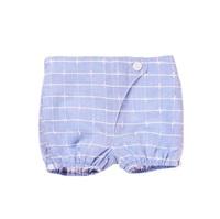 Imagen de Short de recién nacido azul de cuadros tipo bombacho