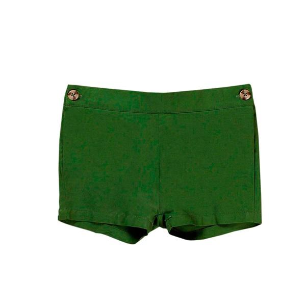 Picture of Short de bebé niño en verde con botones