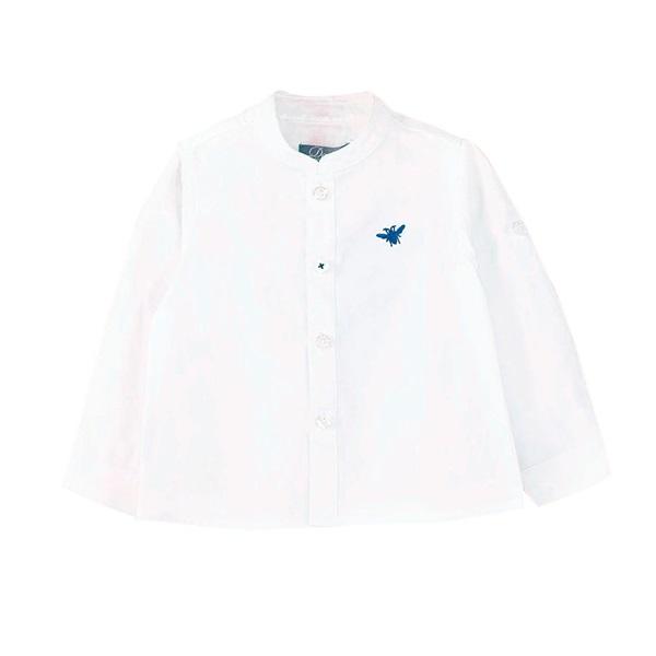 Image de Camisa de bebé niño en blanco y manga larga