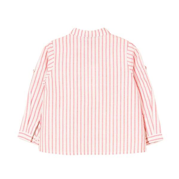 Image de Camisa de bebé niño con rayas rojas y manga larga
