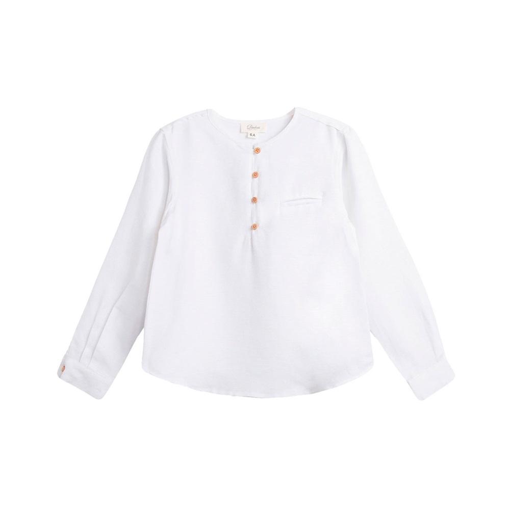 Image de Camisa de niño en blanco y manga larga