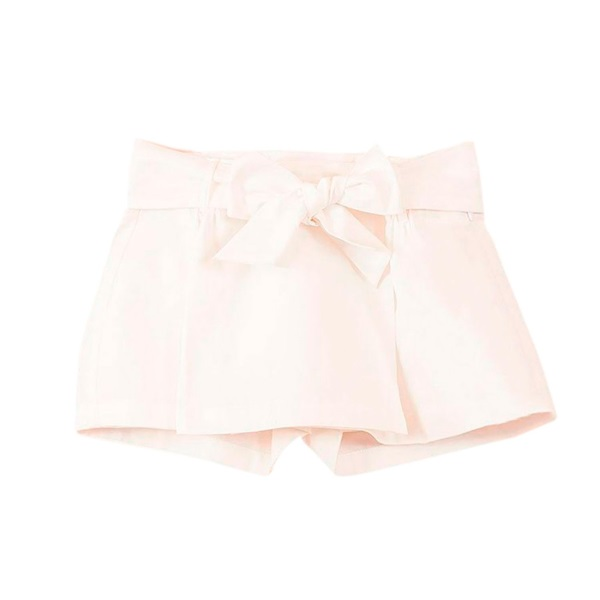 Imagen de Falda pantalón de niña en blanco con lazo