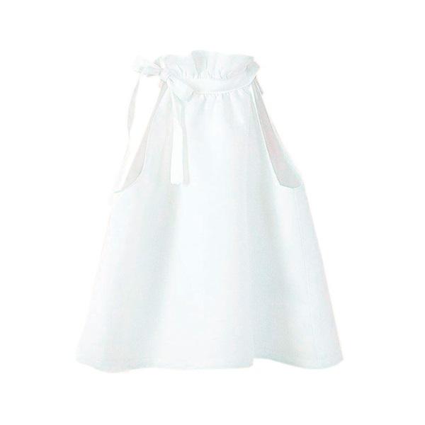 Imagen de Blusa de niña en blanco con cuello halter