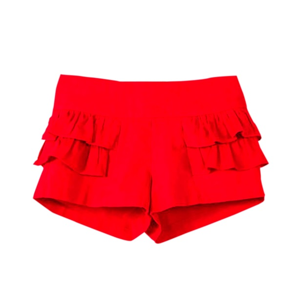 Picture of Short de niña en rojo con volantes